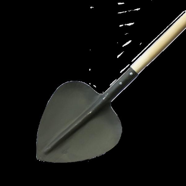 Лопата с деревянным черенком
